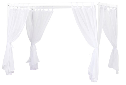 Ft Canopy Transparent Textile, Hoppekids - White - For 70X190/90X200