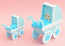 Make a pram / byg en barnevogn, udstikkersæt