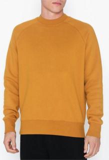 Topman Mustard High Neck Long Sleeve T-Shirt Trøjer Yellow