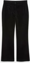 Cropped velvet trousers - Black