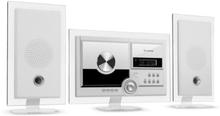 Stereo Sonic DAB+ Stereoanläggning, DAB+, CD-player, USB, BT, vit