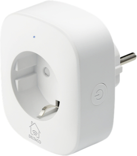 DELTACO SMART HOME strömbrytare, WiFi - vit