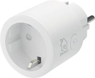 DELTACO SMART HOME strömbrytare, WiFi, vit