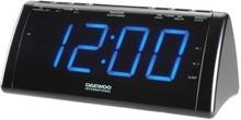 Clockradio med LCD-projector Daewoo 222932 USB