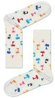 Happy Socks Happy Socks Palm Beach Sock White Pattern-2
