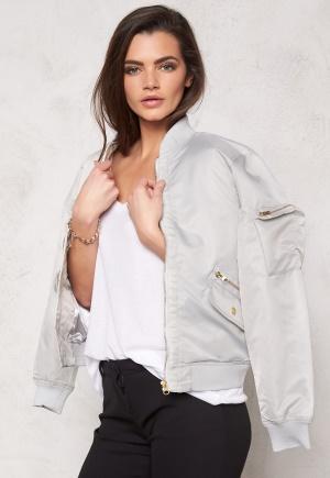 D.Brand Golden Zip Bomber Jacket Grey L