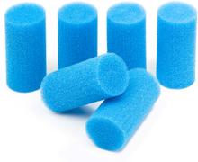 Skumgummiborstar 6-pack, blåa 30 ppi