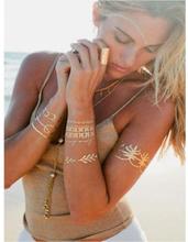 Glam Metallic Temporary Tattoo Stickers (24 varianter)