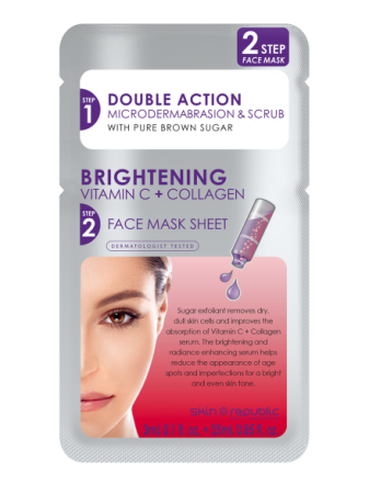 2 Step Brightening Vtiamin C + Collagen Face Mask