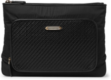 Pelletessuta Leather And Nylon Wash Bag - Black