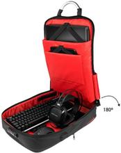 "Antityveri rygsæk med USB og tablet og bærbar computer ruminddeling Mars Gaming MB2 17"""