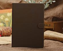 Lækkert ruskinds cover til iPad 2/3/4. Mørkebrun.