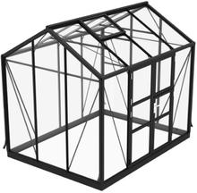 Växthus Spira 6,7 m²-Svart-Nej