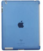 iPad 2/iPad 3/iPad 4 bagcover i hård plastik. Mat blå.