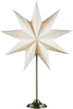 Markslöjd Solvalla bordsstjerne, 64 cm, E14, Hvit/sateng