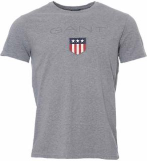 Gant Shield SS T-shirt Grey Melange T-shirt
