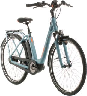 Cube Town Hybrid Pro 400 Easy Entry blue/orange 54cm (28