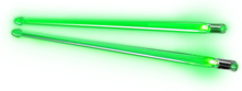 Firestix drumsticks Screamin Green
