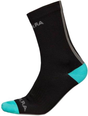 Endura Hummvee sukat , musta/turkoosi L-XL 2019 Vedenpitävät sukat