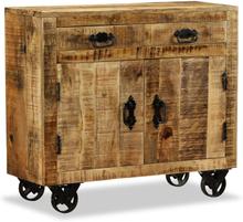 vidaXL Sidobord med 2 lådor och 1 skåp massivt mangoträ