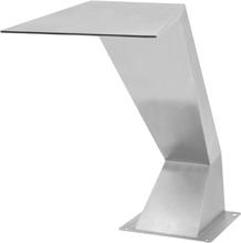 vidaXL Poolfontän rostfritt stål 64x30x52 cm silver