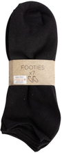 Sorte ankel strømper - Pakke med 7 par - størrelse 35-38 - Smarte lette footies