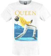Queen - Amplified Collection - Freddie Mercury Triangle -T-skjorte - antikk hvit