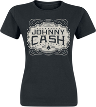 Johnny Cash - Emblem -T-skjorte - svart
