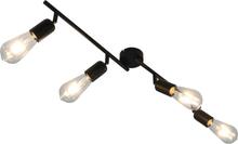 vidaXL 4-vägs spotlight med glödlampor 2 W svart 60 cm E27