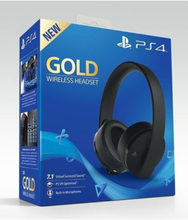 PS4 New Official Gold Wireless Headset 7.1 Black - Zestaw s?uchawkowy - PlayStation 4
