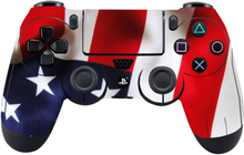 Sony PlayStation 4 - PS4 controller durable adhesive sticker - USA Flag