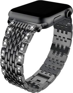 Apple Watch Series 4 40mm diamond décor watch band - Black