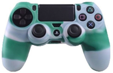 Sony PlayStation 4 - PS4 camouflage silicone case - White / Green