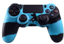 Sony PlayStation 4 - PS4 camouflage silicone case - Black / Blue