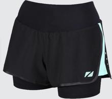 Zone3 Women's Compression 2-in-1 Shorts Svart/mint