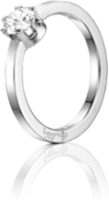 Efva Attling Crown Wedding Ring Vitguld 0,50 Ct Diamant