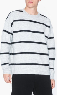 Topman Grey Stripe Jumper Trøjer Grey
