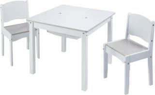 Worlds Apart World Apart bord og stolesæt i 3 dele hvid