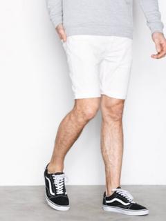 Topman Off White Skinny Denim Shorts Shorts White