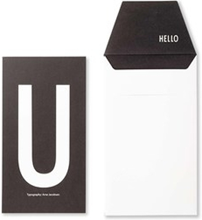 Design Letters Gratulationskort – U