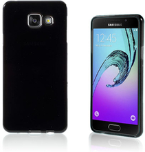 Solid Jelly TPU deksel for Samsung Galaxy A3 SM-A310F (2016) - sort