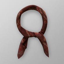 Eton Vinröd bandana med geometriskt mönster