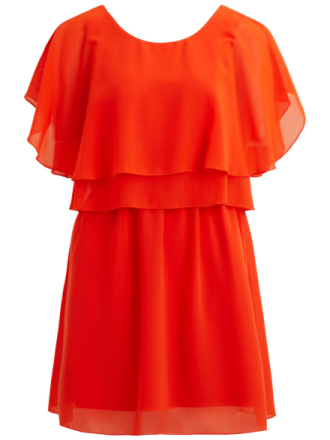 VILA Deep Back- Short Sleeved Dress Women Orange