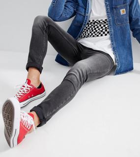 Just Junkies Skinny Jeans In Grey Wash - Black