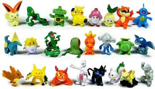 24st söta och färgglada pokémonfigurer