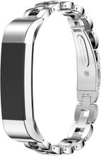 Fitbit Alta solid lenket klokkereim av rustfritt stål - Sølv