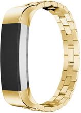 Fitbit Alta Luxury Dragon Tekstur Rustfritt Stål Armbånd - Gull