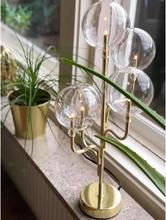 FINTINNE Lampa bord metall/glas Glasbollar H46 cm