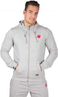 Gorilla Wear Classic Zipped Hoodie Grey - Hettejakke