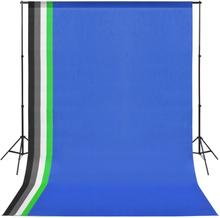 vidaXL fotostudieudstyr med 5 farvede kulisser og justerbar ramme